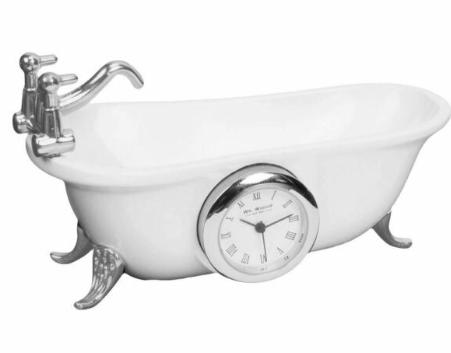 bathtub miniature clock