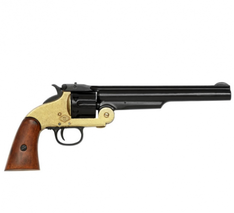 Hover over image to enlarge Click to change image 1869 Smith & Wesson 6 Shot Revolver In Black & Solid Brass