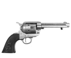 Colt Peacemaker With Black Handle Gun Metal