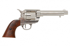 Colt Peacemaker With Wooden Handle Nickel Finish 1869