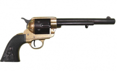 Colt Peacemaker With Black Handle Black & Brass 1869 Long Ba