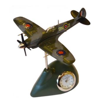 military plane miniature clock