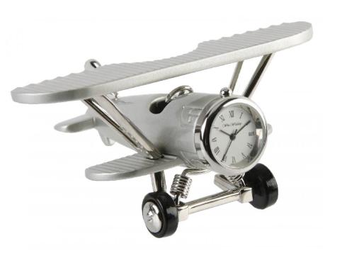 plane miniature clock