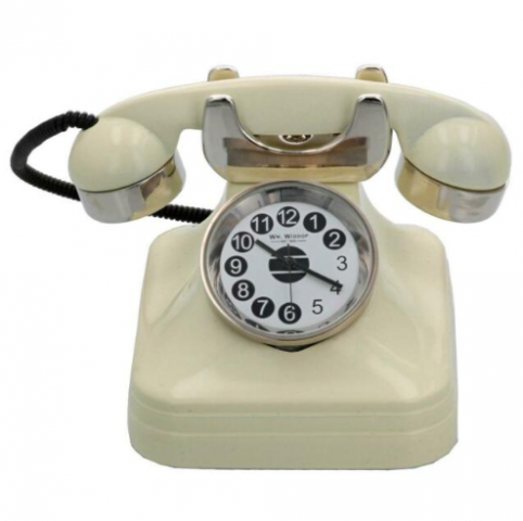 rotary phone miniature clock