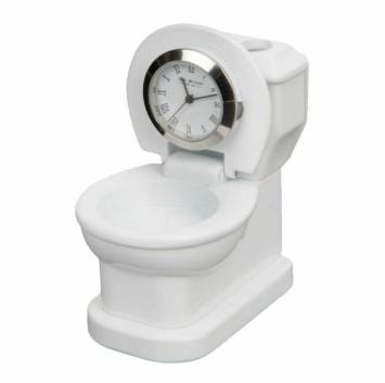 toilet miniature clock