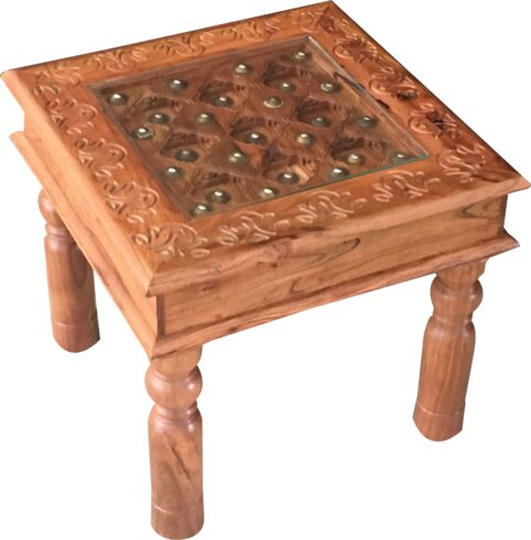 Acacia wood Glass Topped Coffee Table