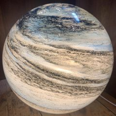 handblown glass planet lamp