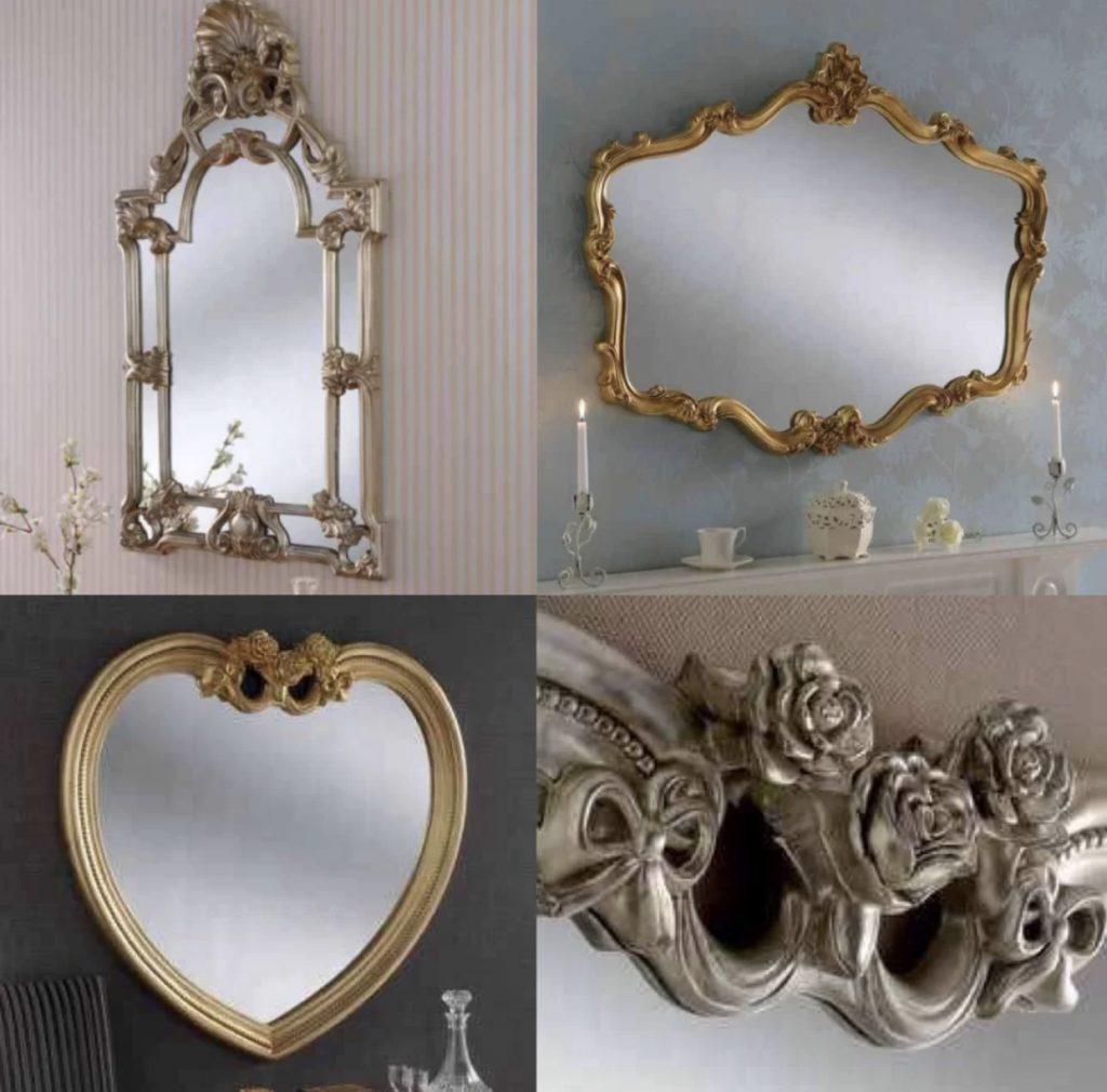 Art Deco Mirror Decorative mirrors Square mirror Polygonal mirror Golden mirror