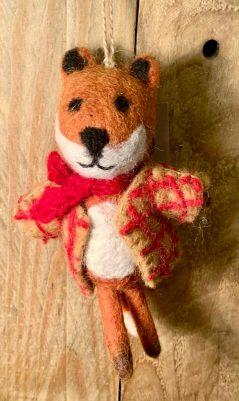 hanging felt Christmas fox