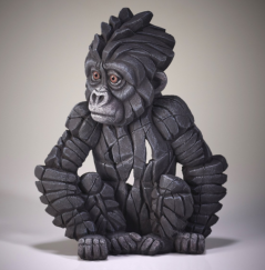 Hand painted baby gorilla sculpture from UK