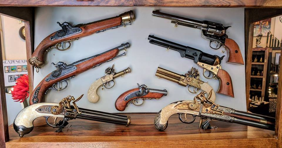 Handmade Denix replica pistols