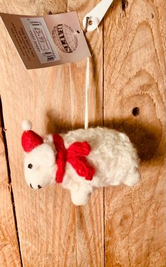 handmade fairtrade felt Christmas sheep