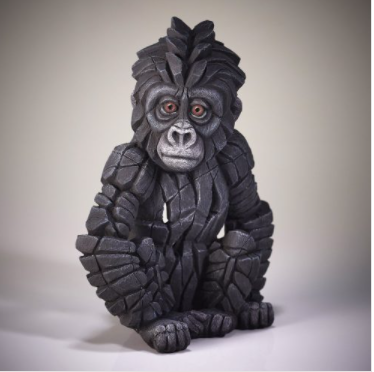 modern handpainted baby gorilla sculpture from UK