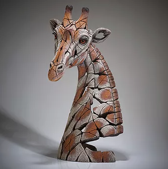 handpainted modern giraffe sculpture from UK artist