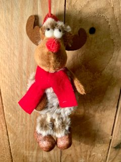 hanging Rudolf red nose reindeer