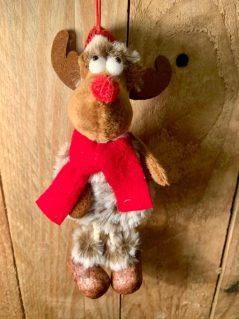 hanging Rudolf red nose reindeer