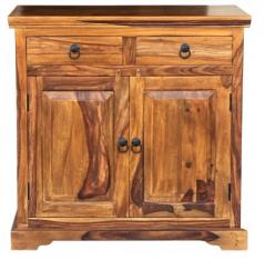 Sheesham wood two-door two-drawer sideboard