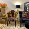 unique multicoloured exotic occasional chair
