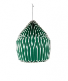 Green paper lampshade from Ian Snow