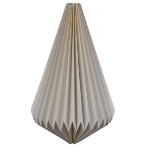 pendant shape fair trade natural paper lampshade