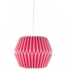 pink natural pleated paper lamp shade