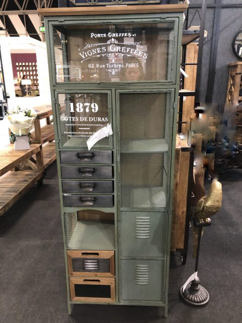 unique vintage style multi drawer storage cabinet bookcase painted in green