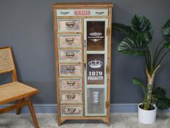 unique vintage style world map design small storage cabinet