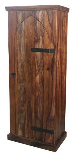 Sheesham wood storage cabinet with 4 shelves