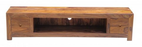 sheesham wood extra wide LCD TV stand media unit