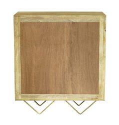 Light Mango Wood Two Door Drinks Cabinet