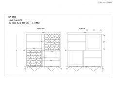 Retro Style Light Mango Wood Bookcase / Storage Cabinet