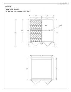 Retro Style Light Mango Wood Storage Cabinet / sideboard